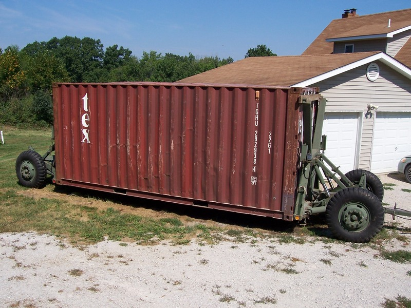 M1022 Military Container Dolly 20 Foot Storage Shipping