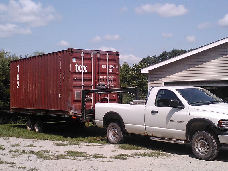 Shipping Container Trailer >> Shipping Container Unloading Requirements 20 Foot Storage