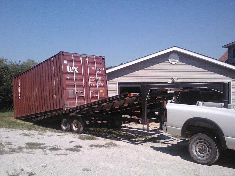 Shipping Container Trailer >> Shipping Container Unloading Requirements 20 Foot Storage Shipping